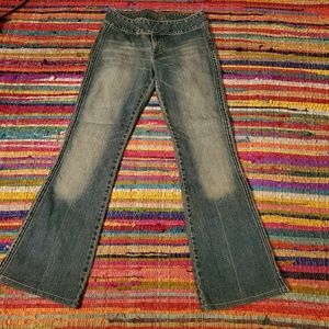 Women's Denim Silver Brand Pants w/side Stitching